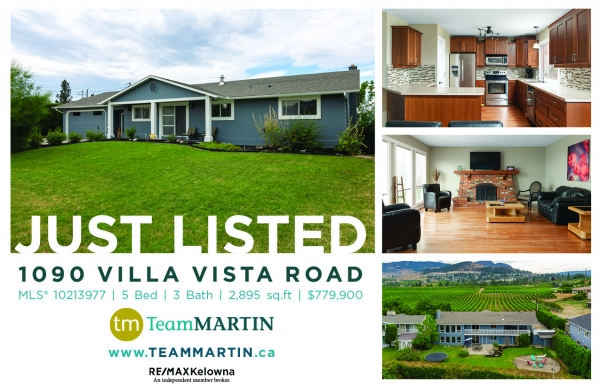 1090 Villa Vista Road, Kelowna British Columbia