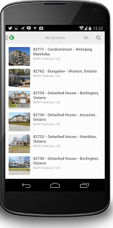 Several listings piped-into a newsreader on HomeBuyerAlert.ca